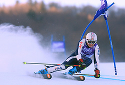 Third placed after first run Manuela Moelgg of Italy skiing in first run of Maribor women giant slalom race of Audi FIS Ski World Cup 2008-09, in Maribor, Slovenia, on January 10, 2009. (Photo by Vid Ponikvar / Sportida)