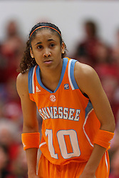 Dec 20, 2011; Stanford CA, USA;  Tennessee Lady Volunteers guard Meighan Simmons (10) before a free throw against the Stanford Cardinal during the second half at Maples Pavilion.  Stanford defeated Tennessee 97-80. Mandatory Credit: Jason O. Watson-US PRESSWIRE