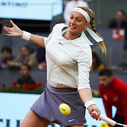 May 8, 2019 - Madrid, Spain - Petra Kvitova of the Czech Republic returns in her match against Caroline Garcia of France during day five of the Mutua Madrid Open at La Caja Magica on May 08, 2019 in Madrid, Spain. (Credit Image: © Oscar Gonzalez/NurPhoto via ZUMA Press)