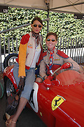 Barbara Veriano and Carolina Sturlese, ( pearls) Goodwood Revival Meeting. Saturday 17 September 2005.  ONE TIME USE ONLY - DO NOT ARCHIVE  © Copyright Photograph by Dafydd Jones 66 Stockwell Park Rd. London SW9 0DA Tel 020 7733 0108 www.dafjones.com