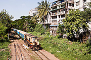 City train, Yangon, Myanmar.