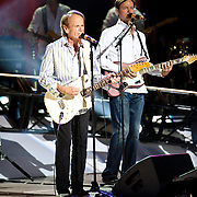 COLUMBIA, MD - June 15th, 2012 - Al Jardine (left) of The Beach Boys performs at Merriweather Post Pavilion as part of the band's 50th Anniversary Reunion Tour. This tour marks the first time chief songwriter Brian Wilson has done a full range of dates with the band since 1965. (Photo by Kyle Gustafson/For The Washington Post)
