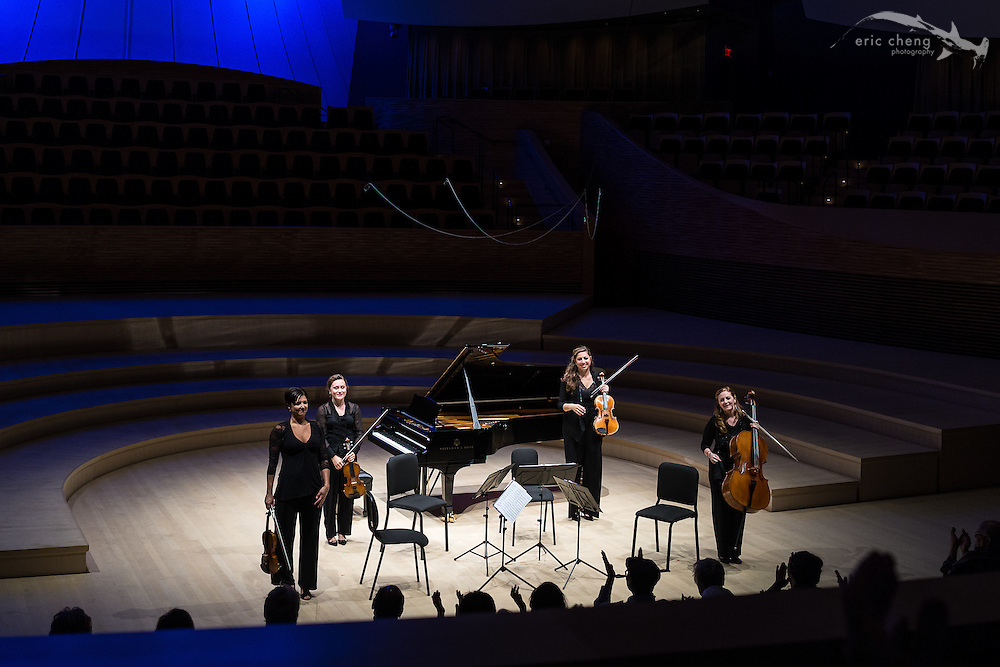 Excelsa String Quartet plays at the SLSQ Chamber Music Seminar 2014 International Showcase at Bing Concert Hall, Stanford University. #slsq2014