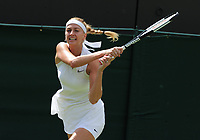 Tennis - 2019 Wimbledon Championships - Week One, Saturday (Day Six)<br /> <br /> Womens singles, 4th Round <br /> Magda Linette (POL) v Petra Kvitova (CZE)<br /> <br /> Petra Kvitova on  Court 2<br /> <br /> COLORSPORT/ANDREW COWIE
