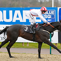 Masaadr and Neil Callan winning the 2.30 race