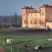 Italie,Parma ,Polesine,27 december 2006..Huis hotel, restaurant,Kasteel en culatello ham productieplaats van dhr. Massimo Spigaroli in het plaatsje Polesine...Foto:Jean-Pierre Jans