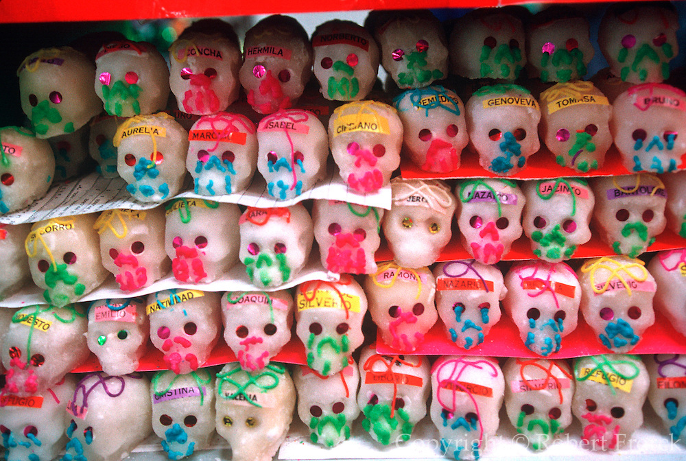 MEXICO, FESTIVALS, MARKETS Days of the Dead; candy skulls