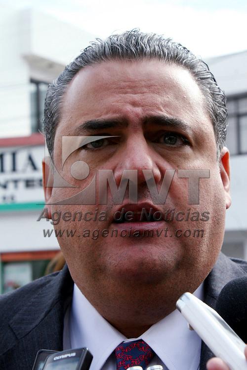 Toluca,  México.- José Salvador Neme Sastré, Secretario de Seguridad Ciudadana durante la celebración del CCVII aniversario del natalicio de Benito Juárez.  Agencia MVT / José Hernández