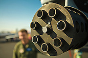 30mm cannon on the nose of an A-10 Thunderbolt.