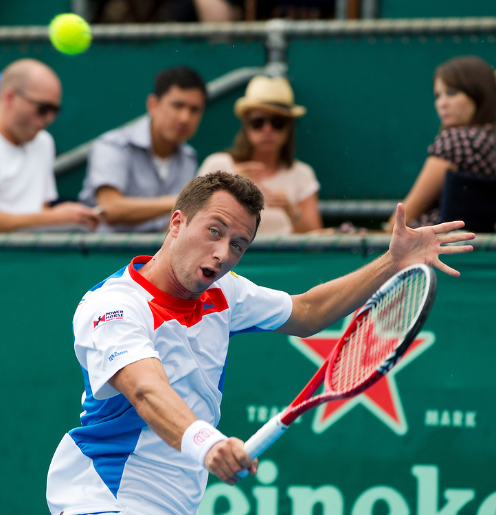 Germany's Philipp Kohlschreiber in his second round singles match against United States' Ryan Harrison at the Heineken Open Men's Tennis Tournament, Auckland, New Zealand, Wednesday, January 11, 2012.  Credit:SNPA / David Rowland