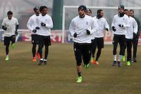 Vinovo 21.02.2017 - Allenamento di vigilia di Porto-Juventus - Champions League 2016-17 - Nella foto:  I giocatori della Juventus   durante l'allenamento