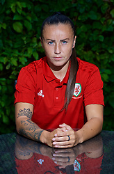 NEWPORT, WALES - Tuesday, August 28, 2018: Wales' Natasha Harding poses for a portrait during a media session at the Coldra Court Hotel ahead of the final FIFA Women's World Cup 2019 Qualifying Round Group 1 match against England. (Pic by David Rawcliffe/Propaganda)