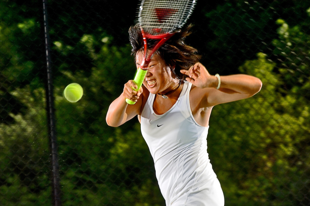(staff photo by Matt Roth)..River Hill's Grace Cheng is the all county girls tennis player of the year.