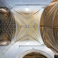 Star vault, Santiago church, Caceres, Spain