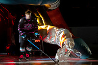 KELOWNA, BC - SEPTEMBER 21:  Jake Lee #21 of the Kelowna Rockets enters the ice for home opener against the Spokane Chiefs at Prospera Place on September 21, 2019 in Kelowna, Canada. (Photo by Marissa Baecker/Shoot the Breeze)