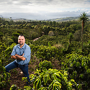 Engineer and Plants Genetics Resources Specialist, William Solano, stands in the middle of a Centroamericano Hybrid coffee plantation in Turrialba, Costa Rica.  Photo: Tito Herrera for MIT Technology Review