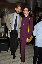 TALI LENNOX and PATRICK GRANT at the Designer Fashion Fund Award hosted by The British Fashion Council and Vogue at Nobu Berkeley, 15 Berkeley Street, London on 29th January 2013.