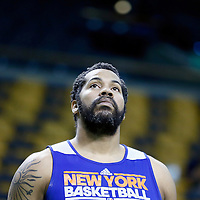 26 April 2013: Rasheed Wallace is seen prior to Game Three of the Eastern Conference Quarterfinals of the 2013 NBA Playoffs at the TD Garden, Boston, Massachusetts, USA.