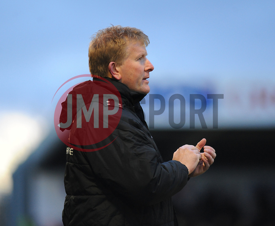 Forest Green Rovers Manager, Adrian Pennock - Photo mandatory by-line: Nizaam Jones/JMP - Mobile: 07966 386802 - 31/01/2015 - SPORT - Football - Nailsworth - The New Lawn - Forest Green Rovers v Nuneaton Town - Vanarama-Conference