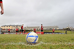 Before Kick-Off  with  Westport United at the Sportspark Westport during the FAI junior cup match against Freebooters FC.<br /> Pic Conor McKeown