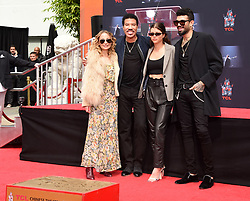 Lionel Richie Handprints and Footprints at the Lionel Richie Hand and Footprints Ceremony at the TCL Chinese Theatre on March 7, 2018 in Hollywood, Ca. © Janet Gough / AFF-USA.COM. 07 Mar 2018 Pictured: Nicole Richie, Lionel Richie, Sofia Richie and Miles Richie. Photo credit: MEGA TheMegaAgency.com +1 888 505 6342