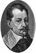 Albrecht van Wallenstein (Waldstein) 1583-1634:  Austrian soldier.  Engraving