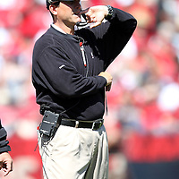 49ers Head Coach Jim Harbaugh during an NFL football game between the Dallas Cowboys and the San Francisco 49ers at Candlestick Park on Sunday, Sept. 18, 2011 in San Francisco, CA.  (Photo/Alex Menendez)