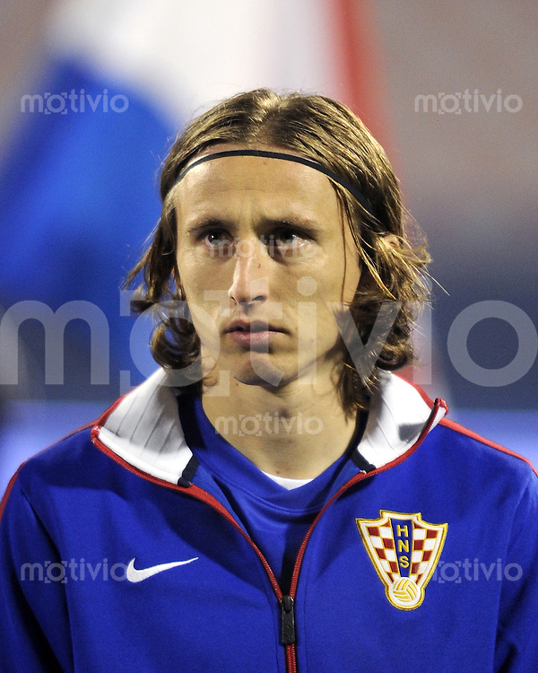 Fussball International, Nationalmannschaft   EURO 2012 Play Off, Qualifikation, Kroatien - Tuerkei       15.11.2011 Luka Modric (Kroatien)