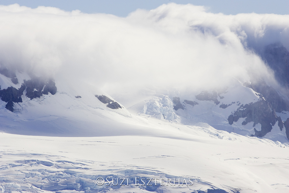 Fog over Mountains and Glaciers<br /> Neko Harbor, Antarctic Peninsula