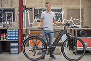 Ruisbroek. Davy Staes van Business Bike Solutions.