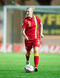 LLANELLI, WALES - Saturday, September 15, 2012: Wales' Sophie Ingle in action against Scotland during the UEFA Women's Euro 2013 Qualifying Group 4 match at Parc y Scarlets. (Pic by David Rawcliffe/Propaganda)