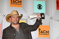 Jason Aldean, at the 2016 Academy of Country Music Awards Press Room, MGM Grand Garden Arena, Las Vegas, NV 04-03-16. EXPA Pictures © 2016, PhotoCredit: EXPA/ Photoshot/ Martin Sloan<br /> <br /> *****ATTENTION - for AUT, SLO, CRO, SRB, BIH, MAZ, SUI only*****