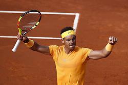 April 27, 2018 - Barcelona, Barcelona, Spain - Banc Sabadell Barcelona Open Tennis tournament. 27th April 2018. Barcelona, Spain; Rafael Nadal wins his match between Martin Klizan (Credit Image: © Eric Alonso via ZUMA Wire)