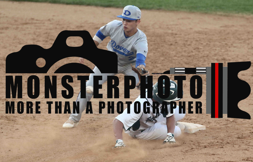 St. Marks Outfielder Austin Colmery (2) slides into second base safely during a DIAA baseball semifinal game between the St. Marks Spartans and Dover Senators at Frawley Stadium Saturday. May 28, 2016 in Wilmington.