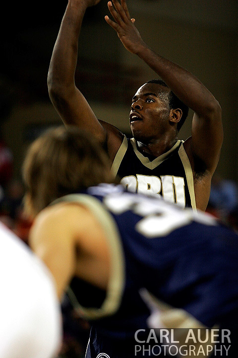 25 November 2005: ORU's Caleb Green (30) takes a free throw in the Oral Roberts University 70-73 loss to Marquette University at the Great Alaska Shootout in Anchorage, Alaska