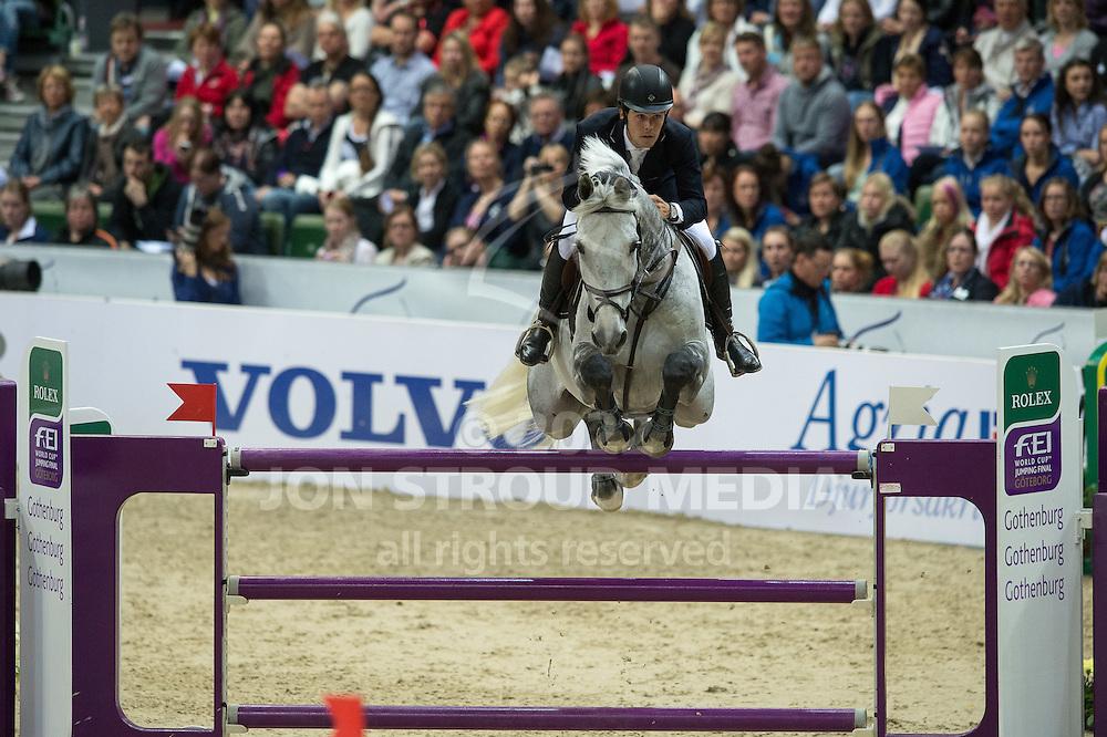 Sergio Alvarez Moya (ESP) & Carlo - Rolex World Cup Jumping Final R3/1 - Gothenburg Horse Show 2013 - Scandinavium, Gothenburg, Sweden - 28 April 2013