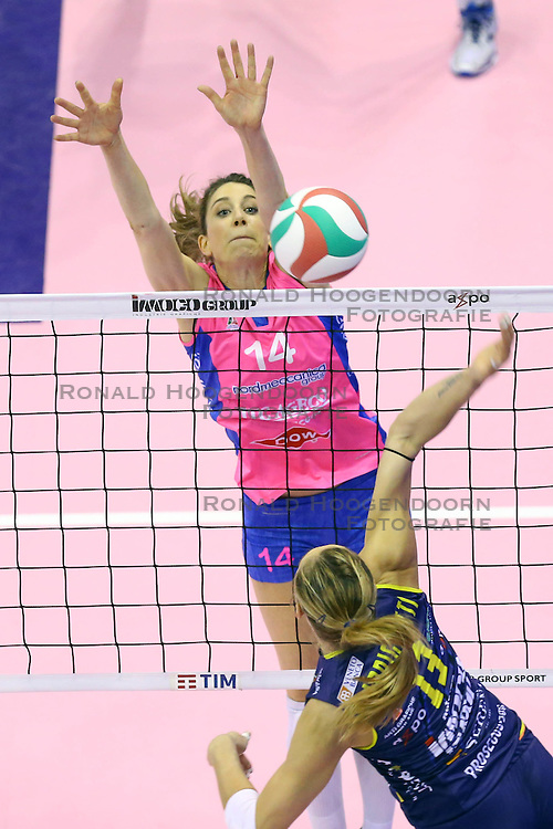 26-04-2016 ITA: Imoco Volley Conegliano - Nordmeccanica Piacenza, Treviso<br /> Final play-offs, Conegliano wint de eerste wedstrijd 1-0 / Floortje Meijners<br /> <br /> ***NETHERLANDS ONLY***