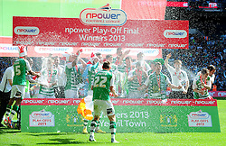 Yeovil Town win the Npower Play-Off Final - Photo mandatory by-line: Dougie Allward/JMP - Tel: Mobile: 07966 386802 19/05/2013 - SPORT - FOOTBALL - LEAGUE 1 - PLAY OFF - FINAL - Wembley Stadium - London - Brentford V Yeovil Town