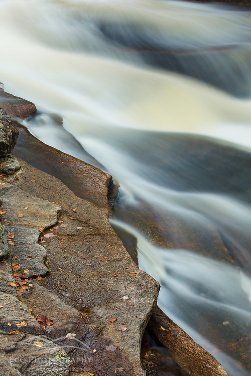 Lower Falls of the Ammonoosuc River in Twin Mountain, New Hampshire. White Mountains.