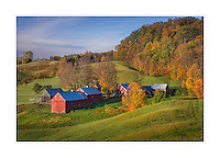 Jenne Farm in autumn Vermont USA