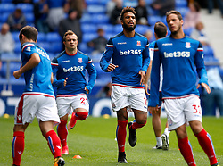 Eric Maxim Choupo-Moting of Stoke City warms up with his new team mates - Mandatory by-line: Matt McNulty/JMP - 12/08/2017 - FOOTBALL - Goodison Park - Liverpool, England - Everton v Stoke City - Premier League