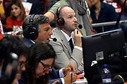 DESCRIZIONE : Milano Lega A 2013-14 EA7 Emporio Armani Milano vs Montepaschi Siena playoff finale gara 2<br /> GIOCATORE : Stefano Michelini Edi Dembinski<br /> CATEGORIA : Vip<br /> SQUADRA : <br /> EVENTO : finale gara 2 playoff<br /> GARA : EA7 Emporio Armani Milano vs Montepaschi Siena gara2<br /> DATA : 17/06/2014<br /> SPORT : Pallacanestro <br /> AUTORE : Agenzia Ciamillo-Castoria/R.Morgano<br /> Galleria : Lega Basket A 2013-2014  <br /> Fotonotizia : Milano Lega A 2013-14 EA7 Emporio Armani Milano vs Montepasci Siena playoff finale gara 2<br /> Predefinita :