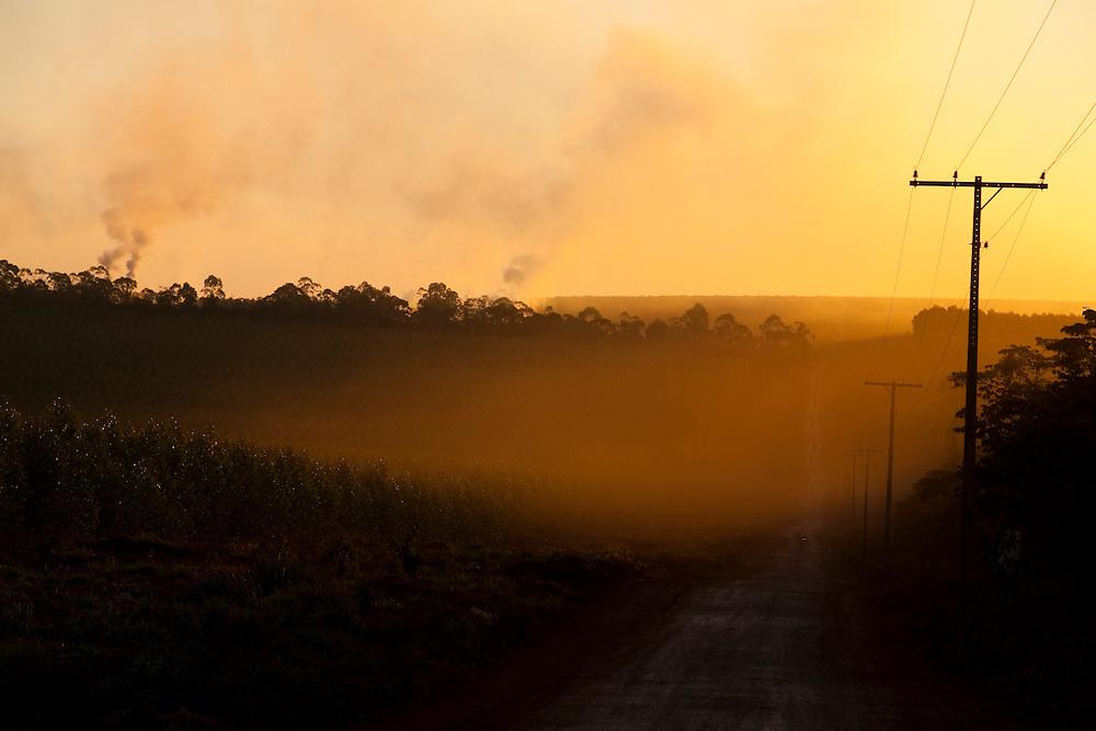 Bom Despacho_MG, Brasil...Por do sol na BR 262 em Bom Despacho, Minas Gerais...Sunset at the BR 262 in Bom Despacho, Minas Gerais...Foto: LEO DRUMOND / NITRO