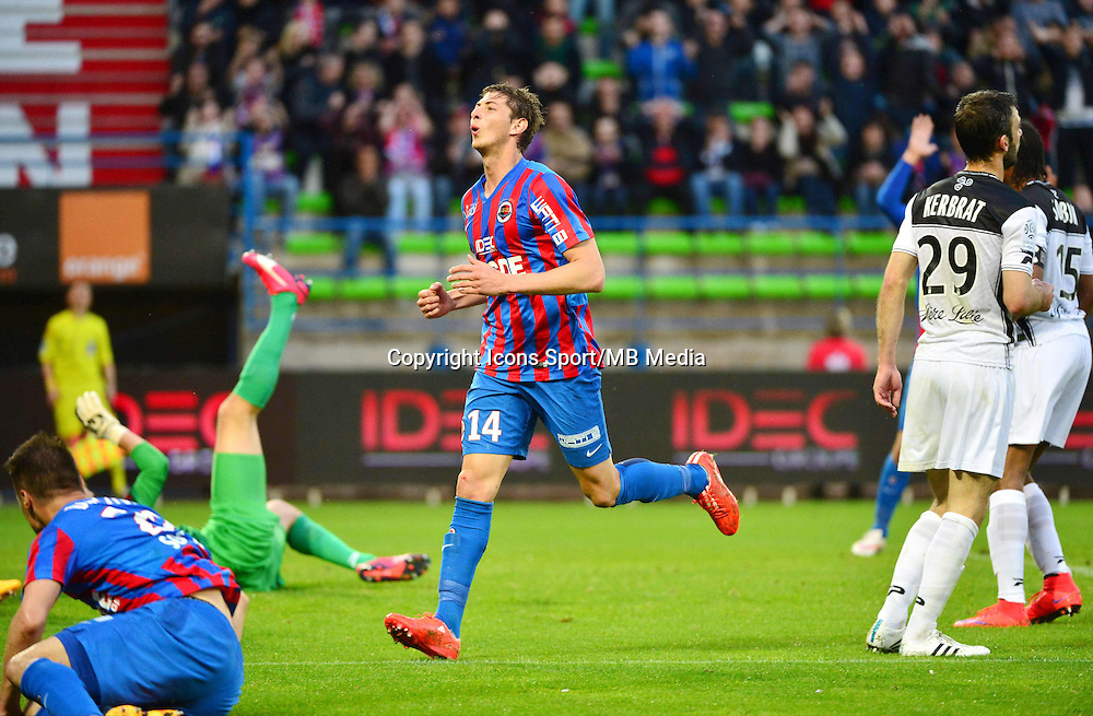 Deception Emiliano SALA - 25.04.2015 - Caen / Guingamp - 34eme journee de Ligue 1<br /> Photo : David Winter / Icon Sport