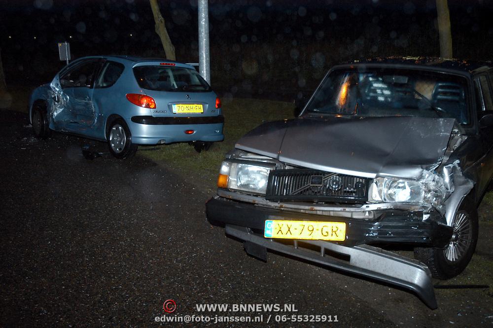 Ongeval, 2 auto's, Blaricummerstraat, Ceintuurbaan Huizen
