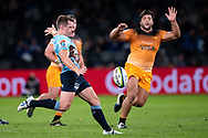 SYDNEY, AUSTRALIA - MAY 25: Waratahs player Bernard Foley (10) kicks the ball at week 15 of Super Rugby between NSW Waratahs and Jaguares on May 25, 2019 at Western Sydney Stadium in NSW, Australia. (Photo by Speed Media/Icon Sportswire)
