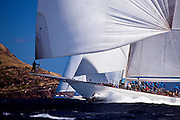 Windrose and Timoneer sailing in the Antigua Superyacht Challenge, race two.