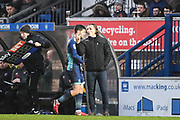 Wycombe Wanderers Manager Gareth Ainsworth gives instructions to his players during the EFL Sky Bet League 2 match between Wycombe Wanderers and Carlisle United at Adams Park, High Wycombe, England on 3 February 2018. Picture by Stephen Wright.