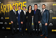 """Eric Berger, left, EVP, Digital Networks, Sony Pictures Television and General Manager, Crackle, joins cast members Cary Elwes, Christian Cooke, Sandrine Holt, Dennis Quaid, and Patrick Sabongui, left to right, at Crackle's """"The Art of More"""" season two premiere, Tuesday, Nov. 15, 2016, at the Museum of Art and Design in New York. Sony's streaming network, Crackle, will launch season two of its first original scripted drama, """"The Art of More,"""" on November 16th.  (Photo by Diane Bondareff/Invision for Crackle/AP Images)"""