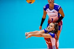 24-08-2017 NED: World Qualifications Netherlands - Czech Republic, Rotterdam<br /> De Nederlandse volleybalsters hebben op het WK-kwalificatietoernooi ook hun derde duel gewonnen. Oranje versloeg in het Topsportcentrum in Rotterdam Tsjechi&euml; in drie sets: 25-18, 25-22 en 25-18. Veronika Dostalova #11 of Czech Republic